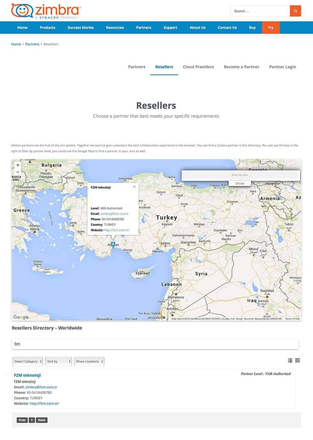 Zimbra Resmi Türkiye Partneriyiz